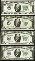 Fr. 2000-B; E; F; K $10 1928 Federal Reserve Notes. Very Fine-Extremely Fine or Better. ... (Total: 4 notes)