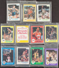 Basketball Cards:Sets, 1983-1985 Star Co. Sealed Team Set Collection (10) Plus 1985 Star Co. Crunch 'N Munch All-Star Set With Michael Jordan....