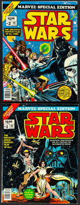 "Star Wars Marvel Special Edition #1 & #2 (Marvel, 1977). Fine/Very Fine. Comic Books (2) (60 Pages, 10"" X 13.25..."