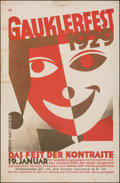 """Movie Posters:Miscellaneous, Gauklerfest (1929). Rolled, Fine+. German Festival Poster (25.5"""" X 39""""). Miscellaneous.. ..."""