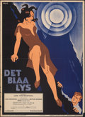 """Movie Posters:Foreign, The Blue Light (Aafa-Film, 1933). Folded, Fine/Very Fine. Swedish One Sheet (27.5"""" X 39.5""""). Foreign.. ..."""