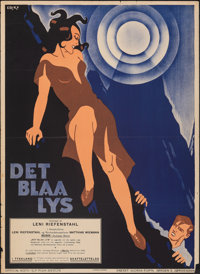 "The Blue Light (Aafa-Film, 1933). Folded, Fine/Very Fine. Swedish One Sheet (27.5"" X 39.5""). Foreign"
