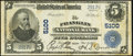 Franklin, OH - $5 1902 Plain Back Fr. 606 The Franklin National Bank Ch. # 5100 Very Fine