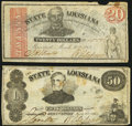 Obsoletes By State:Louisiana, Shreveport, LA- State of Louisiana $20; $50 Mar. 10, 1863 Fine-Very Fine or Better.. ... (Total: 2 notes)