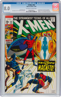 X-Men #63 (Marvel, 1969) CGC VF 8.0 Off-white to white pages