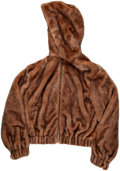 Luxury Accessories:Accessories, Helmut Lang Brown Faux Fur Hooded Bomber Jacket. Condition: 1. Size: Medium. ...