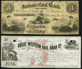 Obsoletes By State:Indiana, Petersburg, IN- Indiana Coal Bank $3 Dec. 10, 1858 Fine;. Camanche, IA- Great Western Rail Road Co. of Iowa $5 Jan. ... (Total: 2 notes)