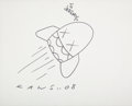 Collectible, KAWS (b. 1974). Untitled, 2008. Ink on paper. 11 x 14 inches (27.9 x 35.6 cm) (sheet). Signed, dated, and inscribed to f...