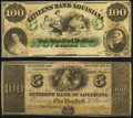 Obsoletes By State:Louisiana, New Orleans, LA- Citizens' Bank of Louisiana $100 18__, Two Remainders Crisp Uncirculated.. ... (Total: 2 notes)