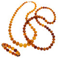 Estate Jewelry:Necklaces, Amber Jewelry Lot . ... (Total: 3 Items)
