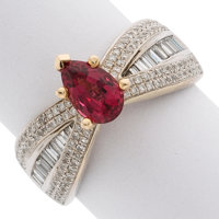 Spinel, Diamond, Gold Ring