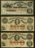 (Jefferson City), MO- State of Missouri (Secessionist) $20; $100 (2) 186_ Remainders Very Good or Better. ... (Total: 3...