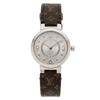 Diamond, Stainless Steel Watch, Louis Vuitton