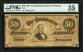 Confederate Notes:1864 Issues, T66 $50 1864 PF-2 Cr. 496 PMG Choice Very Fine 35.. ...