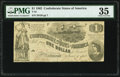 Confederate Notes:1862 Issues, T44 $1 1862PF-3 Cr. 341 PMG Choice Very Fine 35.. ...
