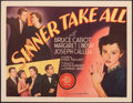 """Movie Posters:Mystery, Sinner Take All (MGM, 1936). Fine on Paper. Half Sheet (22"""" X 28""""). Mystery.. ..."""
