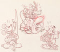 Animation Art:Concept Art, Mickey's Trailer Mickey Mouse, Donald Duck and Goofy Publicity Concept Drawing by Hank Porter Original Art (Walt Disne...