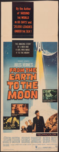 """Movie Posters:Science Fiction, From the Earth to the Moon (Warner Bros., 1958). Folded, Fine+. Trimmed Insert (13.5"""" X 35.25"""") & Lobby Cards (2) (11"""" X 14""""... (Total: 3 Items)"""