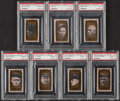 Baseball Cards:Lots, 1963 Bazooka All-Time Greats PSA Graded Collection (7)....