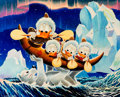 Memorabilia:Disney, Carl Barks Luck of the North Signed Limited Edition Miniature Lithograph Print #10/595 (Another Rainbow, 2000)....