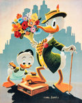 Memorabilia:Disney, Carl Barks Dude for a Day Signed Limited Edition Miniature Lithograph Print #10/595 (Another Rainbow, 1997)....