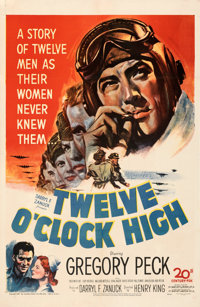 "Twelve O'Clock High (20th Century Fox, 1949). Fine/Very Fine on Linen. One Sheet (27"" X 41.5"")"