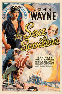 "The Sea Spoilers (Universal, 1936). Fine/Very Fine on Linen. One Sheet (27"" X 41"")"