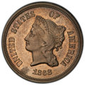 Patterns, 1868 5C J-633 -- Spot Removed -- PCGS Genuine. Unc Details....