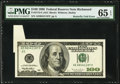 Butterfly Fold Error Fr. 2175-E $100 1996 Federal Reserve Note. PMG Gem Uncirculated 65 EPQ