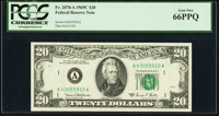 Fr. 2070-A $20 1969C Federal Reserve Note. PCGS Gem New 66PPQ
