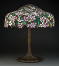 Glass, Large Handel Leaded Glass Lamp, post-1904. 11-1/4 x 26-3/8 inches (28.6 x 67.0 cm). ...