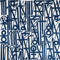 RETNA (b. 1979) The Kings Way is the Only Way, 2015 Acrylic with diamond dust on canvas 72 x 72 i