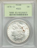1878-CC $1 MS63 PCGS. PCGS Population: (10549/10162). NGC Census: (6591/6326). CDN: $360 Whsle. Bid for NGC/PCGS MS63. M...