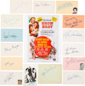 Movie/TV Memorabilia:Autographs and Signed Items, Show Boat Cast Signatures Collection (15)....