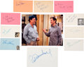 Movie/TV Memorabilia:Autographs and Signed Items, The Odd Couple Original TV Series Ca...