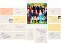 Movie/TV Memorabilia:Autographs and Signed Items, Soap TV Series Cast Signatures Collection (15)....