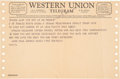 Music Memorabilia:Documents, The Beatles-to-The Family Dog (San Francisco) 1968 Western Union Telegram....