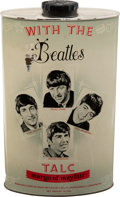 Music Memorabilia:Memorabilia, Beatles Talcum Powder Tin by Margo of Mayfair (UK, 1963). ...