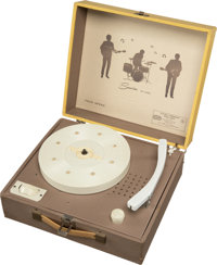 The Beatles Portable Phonograph Player with Beatle Silhouettes (Lionel Toy Corp,1964)