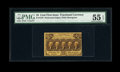 Fractional Currency:First Issue, Fr. 1279 25c First Issue PMG About Uncirculated 55 EPQ....