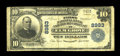 National Bank Notes:West Virginia, Elm Grove, WV - $10 1902 Plain Back Fr. 626 The First NB & TCCh. # 8983. ...