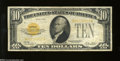 Small Size:Gold Certificates, Fr. 2400 $10 1928 Gold Certificate. Fine-Very Fine.