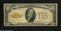 Small Size:Gold Certificates, Fr. 2400 $10 1928 Gold Certificate. Very Good-Fine.