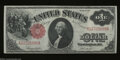Fr. 36 $1 1917 Legal Tender Note Extremely Fine. Bright paper and nice color are found on this Ace with three vertical f...