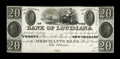 Obsoletes By State:Louisiana, New Orleans, LA- Bank of Louisiana $20 G44 Proof. ...
