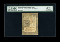Colonial Notes:Pennsylvania, Pennsylvania October 1, 1773 50s PMG Choice Uncirculated 64....