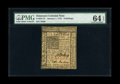 Colonial Notes:Delaware, Delaware January 1, 1776 6s PMG Choice Uncirculated 64 EPQ....