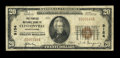 National Bank Notes:Pennsylvania, Clintonville, PA - $20 1929 Ty. 1 The Peoples NB Ch. # 9154. ...
