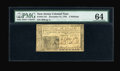 Colonial Notes:New Jersey, New Jersey December 31, 1763 3s PMG Choice Uncirculated 64....