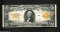 Large Size:Gold Certificates, Fr. 1187 $20 1922 Gold Certificate Very Fine+. A splendid ...